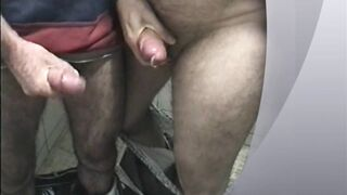 Two great cum loads in the toilet