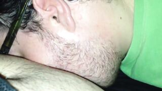 Blowjob in an adult gay theater