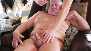 Stroking session with a friend