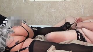Sissy gets two guys and two loads