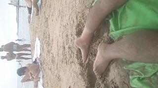 Beach public gay pride