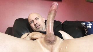 Nice load from a huge dick