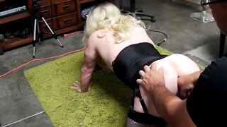 Training sissy ass to take a fist